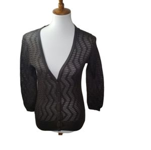    MISSONI    Size 8 Sheer Button Down Cardigan